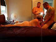 Sexy red-hot wifey and husband in a 3 sum with her boy
