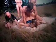 Cuckolds wifey banged hard outdoors